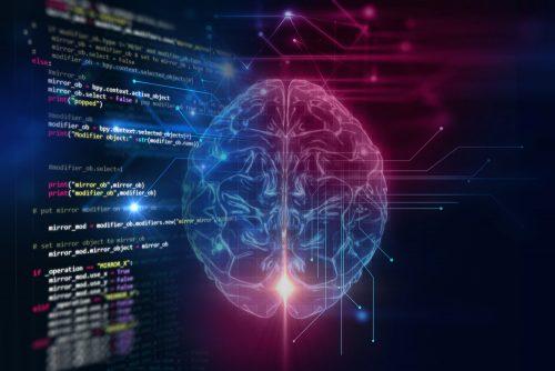 Мозг с программным кодом